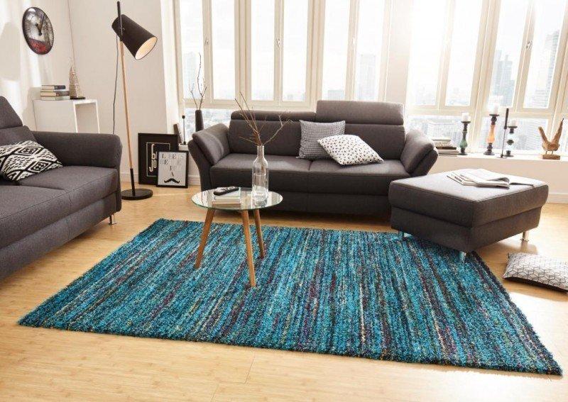 Modrý kusový koberec Nomadic