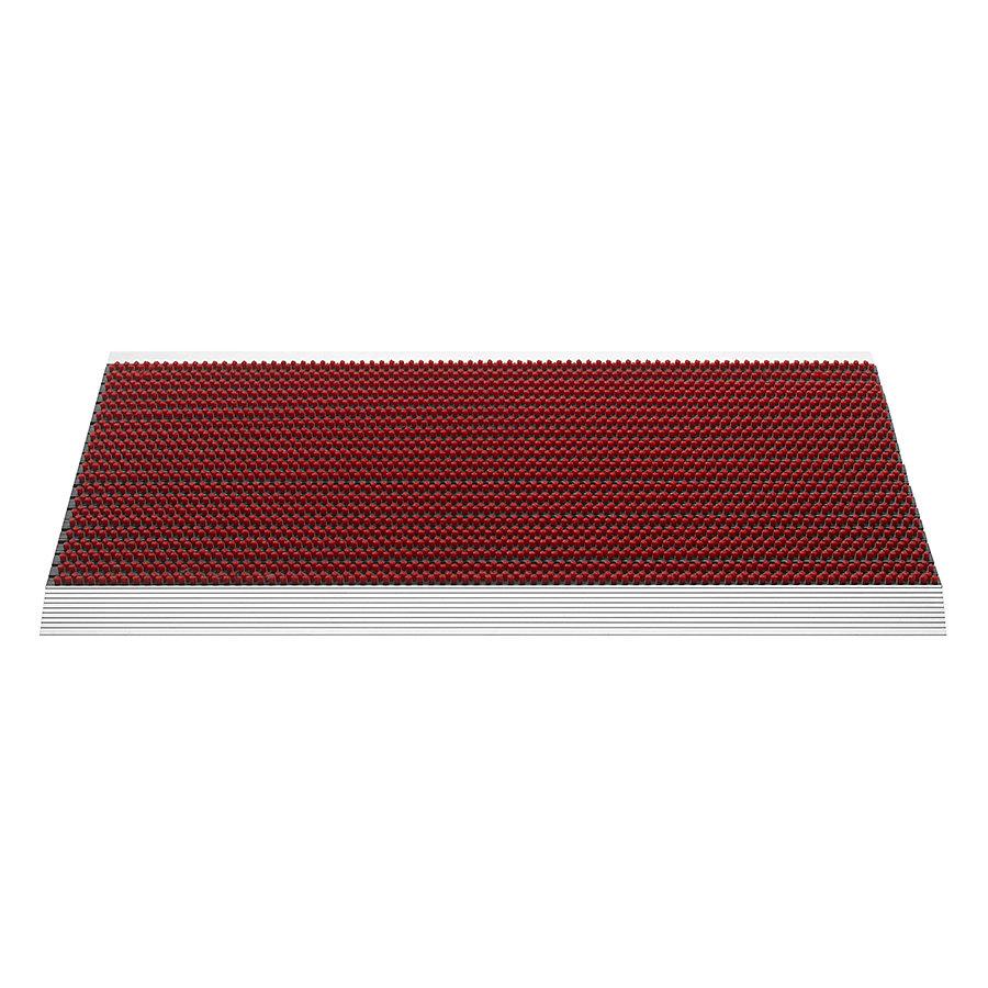 Červená venkovní čistící kartáčová rohož Outline - 50 x 80 x 2,2 cm
