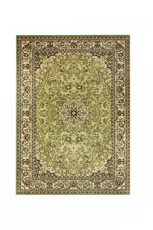 Zelený kusový orientální koberec Solid New