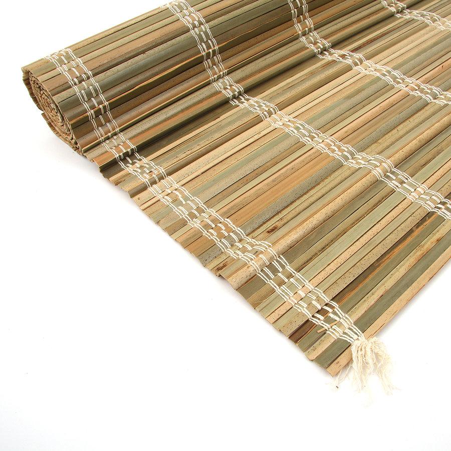 """Palmová rohož """"štípané palmové dřevo"""" na zeď - délka 300 cm"""