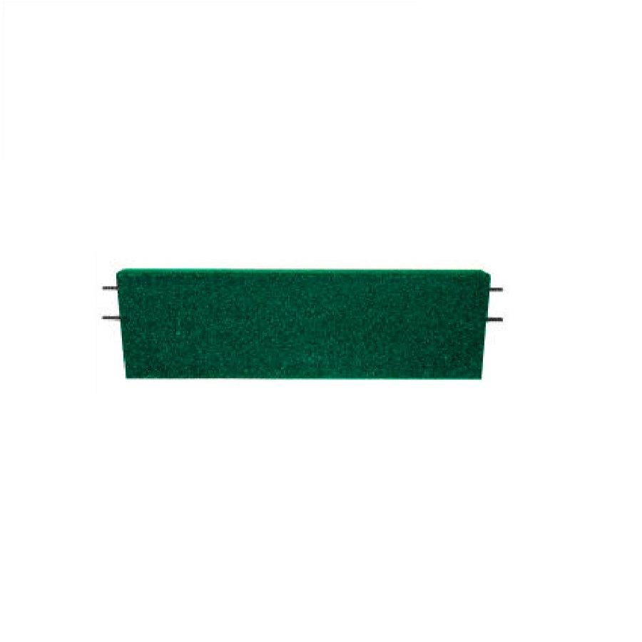 Zelený rovný nájezd pro gumové dlaždice - délka 75 cm, šířka 30 cm a výška 6,5 cm