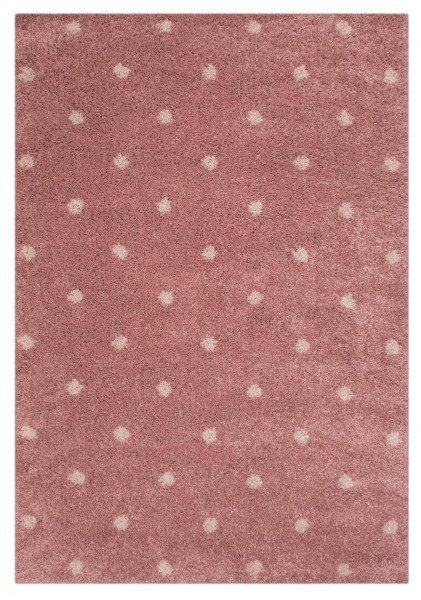 Růžový dětský kusový koberec Vini - délka 170 cm a šířka 120 cm