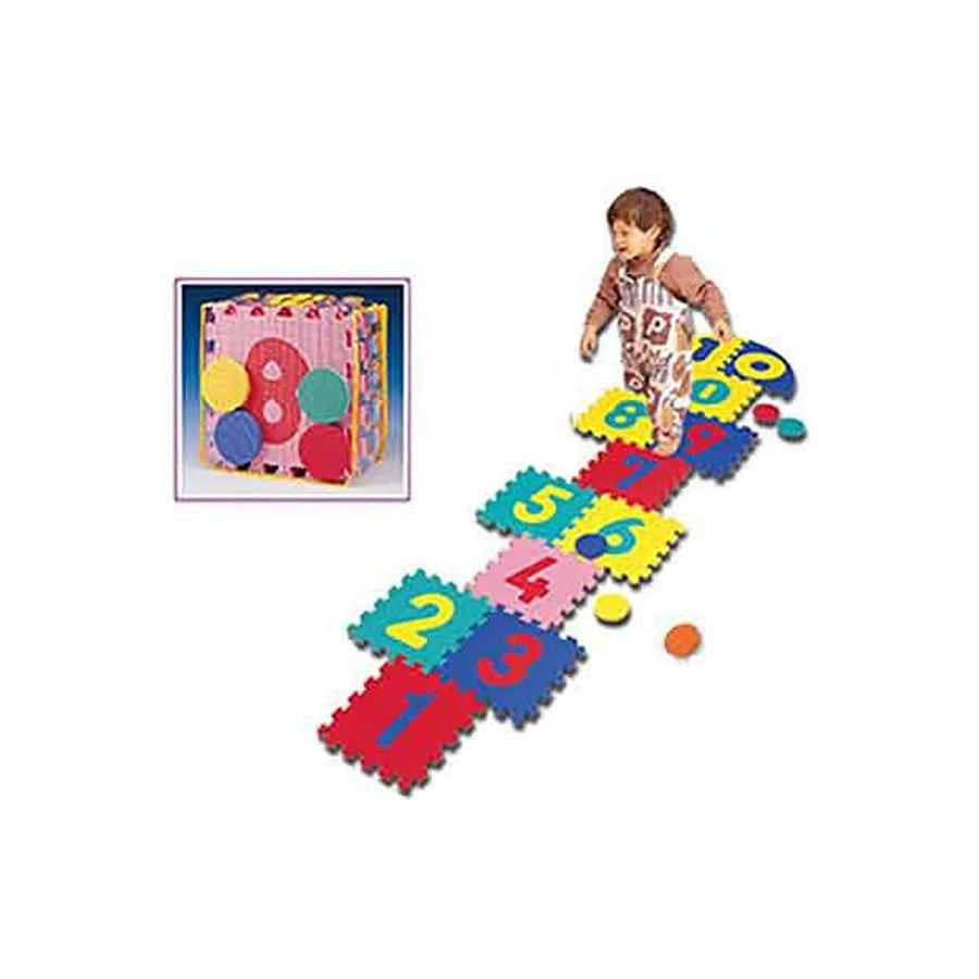 Modulární hrací dětská podložka - délka 30 cm, šířka 30 cm a výška 1,4 cm