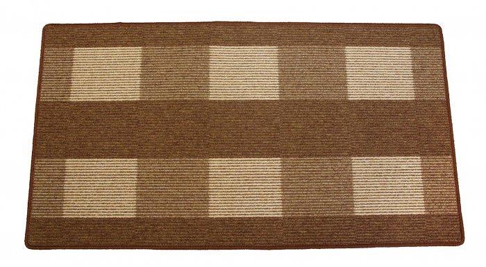 Hnědý kusový koberec Dijon