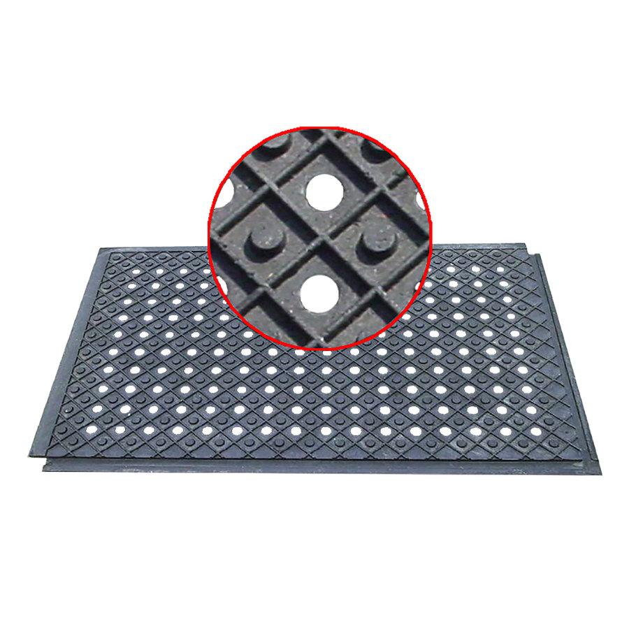 Plastová podlahová děrovaná deska - délka 120 cm, šířka 80 cm a výška 4,3 cm