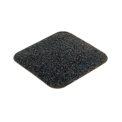 Černá korundová protiskluzová páska pro nerovné povrchy - délka 14 cm a šířka 14 cm