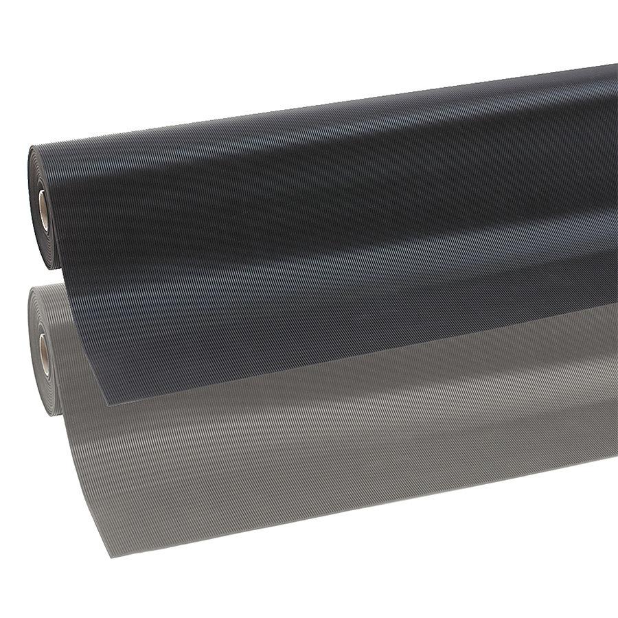 Černá průmyslová rohož Rib 'n' Roll - výška 0,3 cm