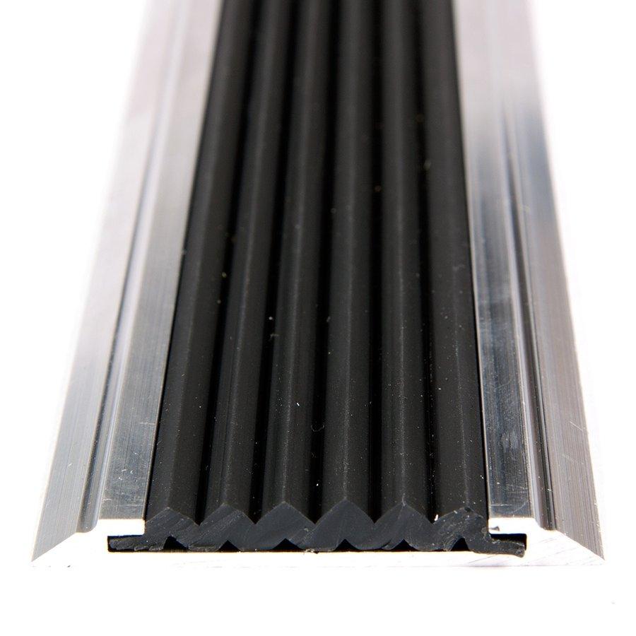 Černá gumová protiskluzová páska do schodových lišt a hran Antislip - šířka 4 cm a výška 0,5 cm