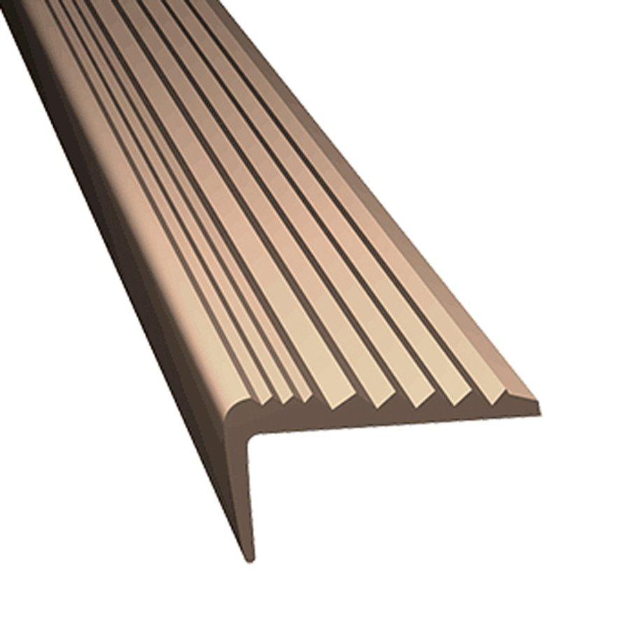 Béžová gumová protiskluzová schodová hrana - délka 5 m, šířka 4,7 cm a výška 2,1 cm
