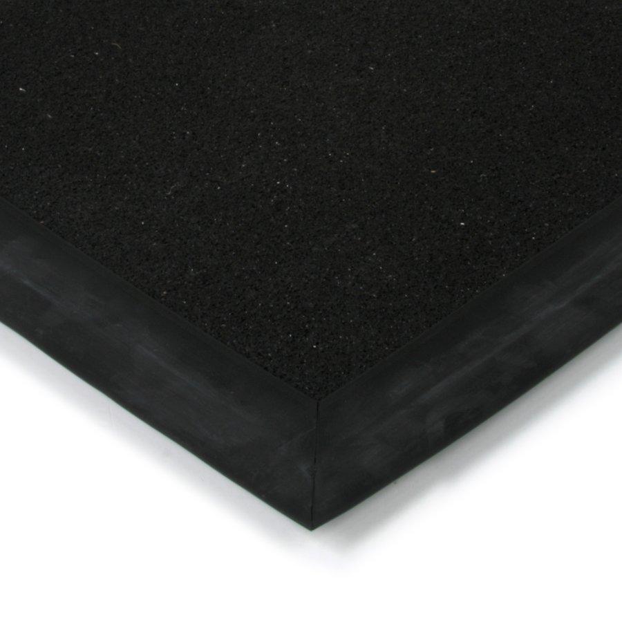 Černá plastová kokosová textilní vstupní vnitřní venkovní čistící zátěžová rohož Synthetic Coco, FLOMAT - délka 50 cm, šířka 80 cm a výška 1 cm