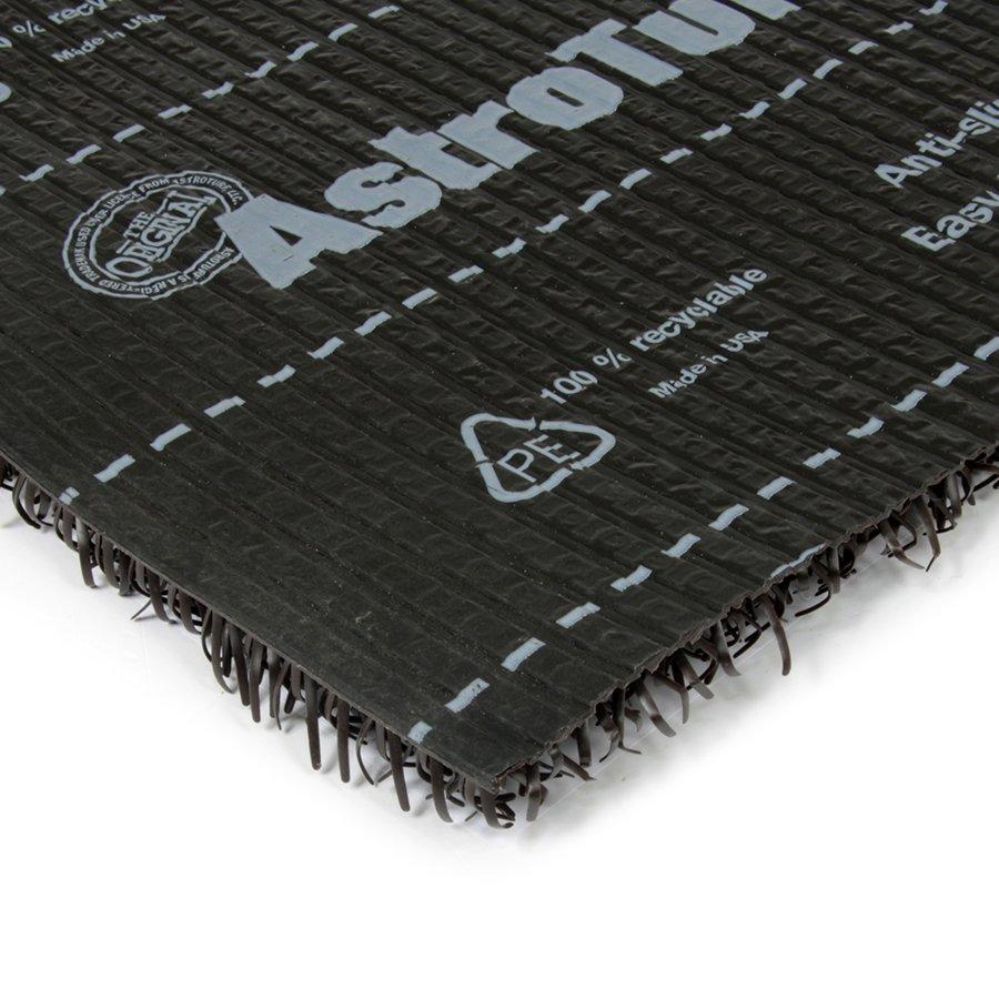 Hnědá plastová vstupní univerzální čistící metrážová rohož Astra - šířka 91 cm a výška 1,8 cm