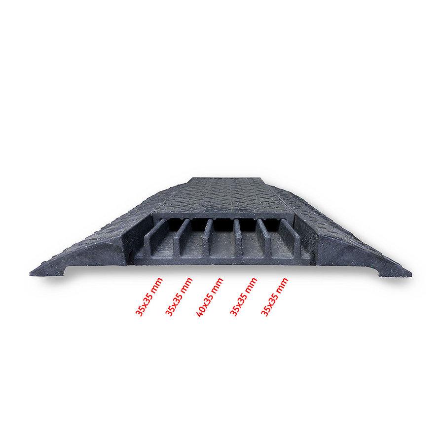 """Černý plastový kabelový most """"křižovatka"""" s víkem - délka 80 cm, šířka 80 cm a výška 6 cm"""
