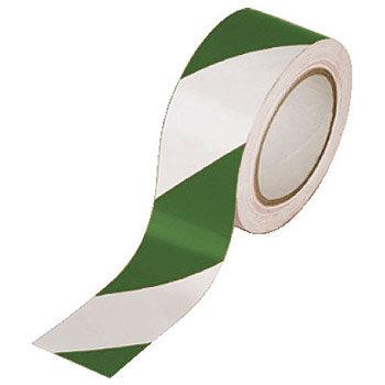 Bílo-zelená podlahová vyznačovací páska - délka 33 m a šířka 5 cm