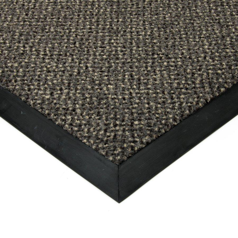 Šedá textilní čistící vnitřní vstupní rohož Cleopatra Extra, FLOMAT - výška 1 cm