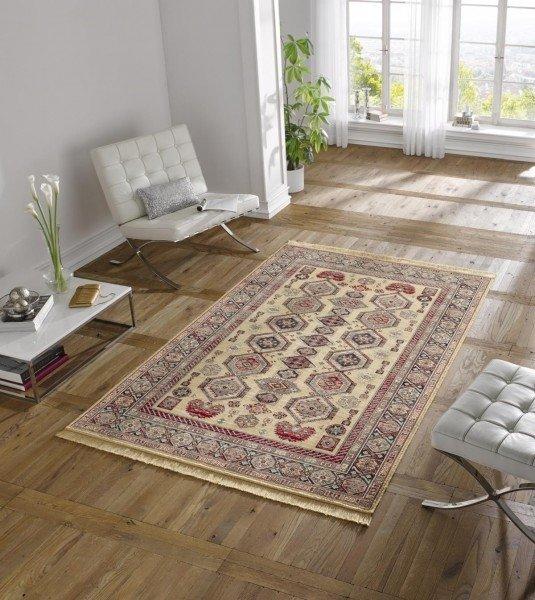 Béžový orientální kusový koberec Majestic - délka 170 cm a šířka 120 cm