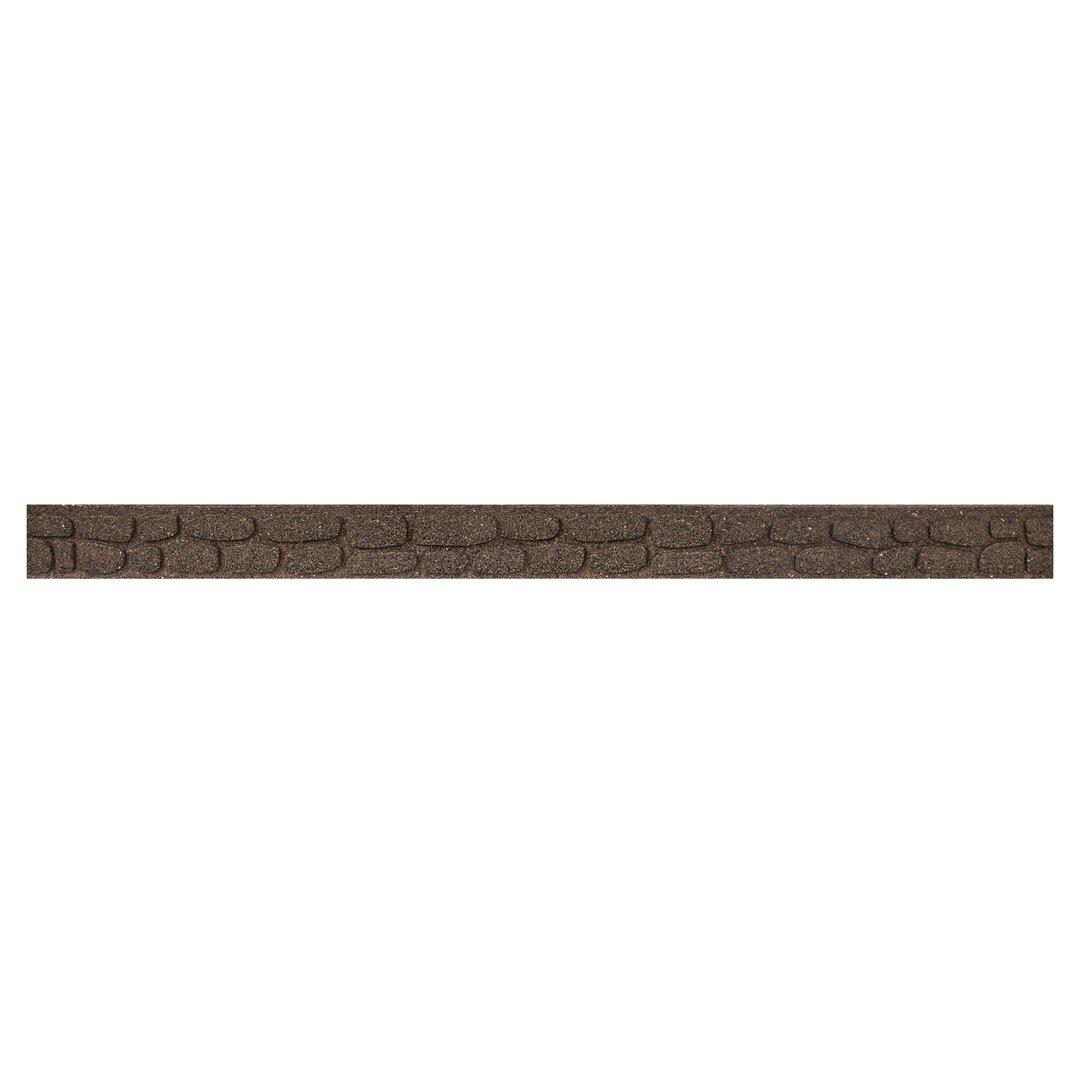 Hnědý gumový zahradní obrubník FLOMA Rockwall - 122 x 5,1 x 8,9 cm
