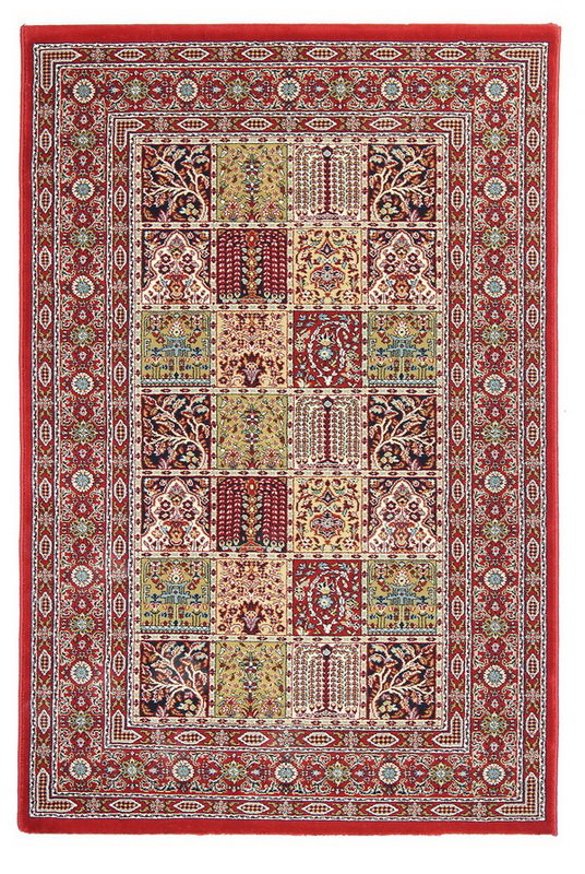Červený kusový orientální koberec