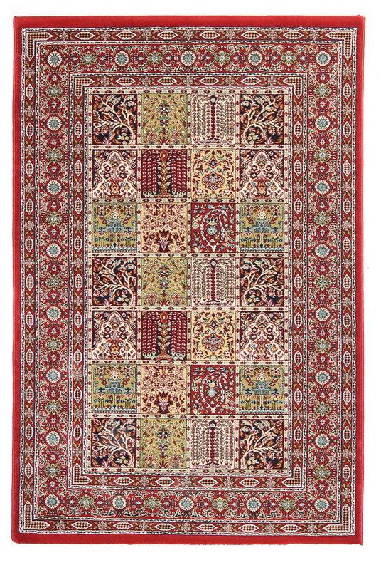 Červený kusový orientální koberec Tashkent - délka 180 cm a šířka 120 cm