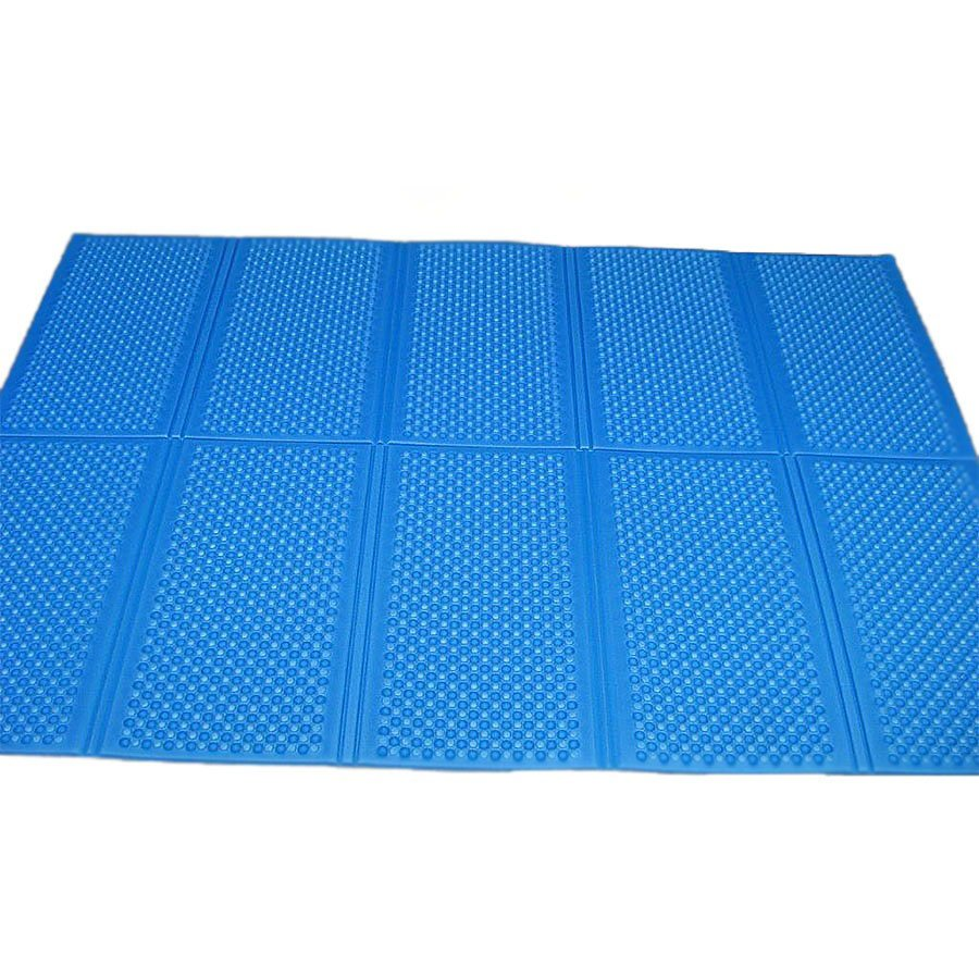Modrá skládací pěnová podložka Casmatino - délka 200 cm, šířka 140 cm a výška 1 cm