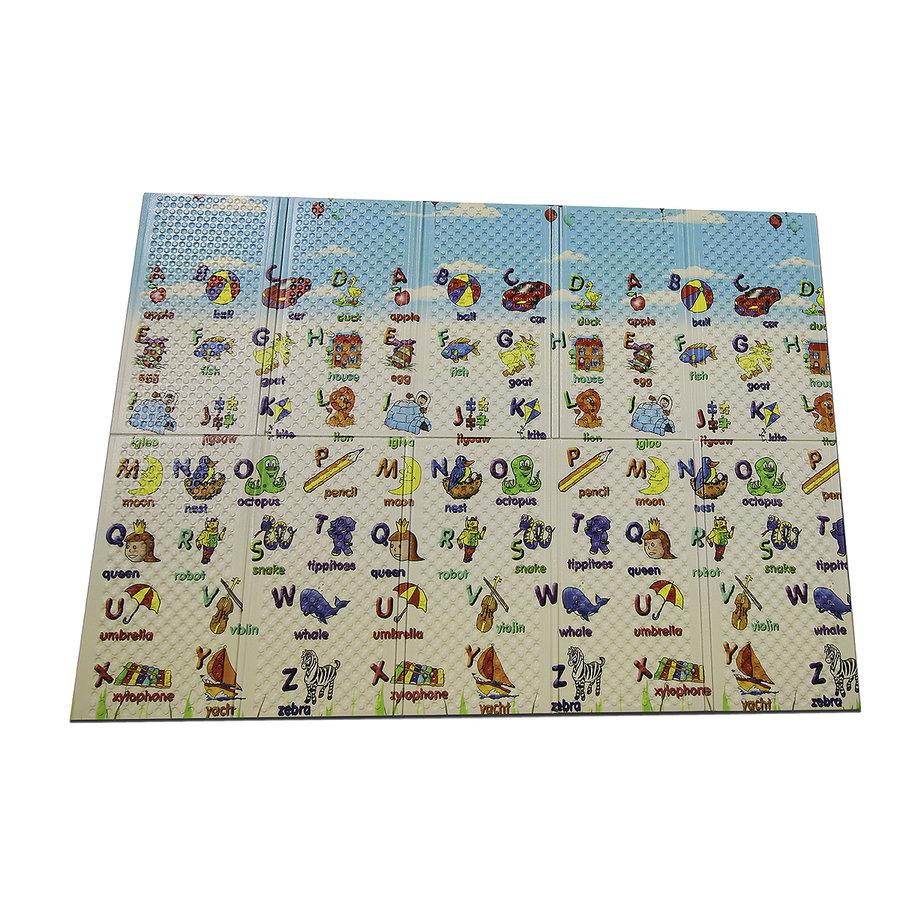 Dětská hrací pěnová skládací podložka Funny, Casmatino - délka 200 cm, šířka 140 cm a výška 1 cm