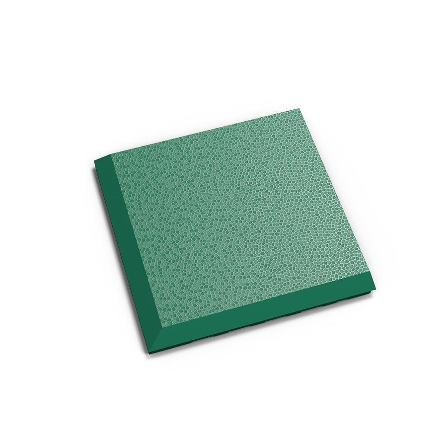 """Zelený plastový vinylový rohový nájezd """"typ C"""" Invisible 2038 (hadí kůže), Fortelock - délka 14,5 cm, šířka 14,5 cm a výška 0,67 cm"""