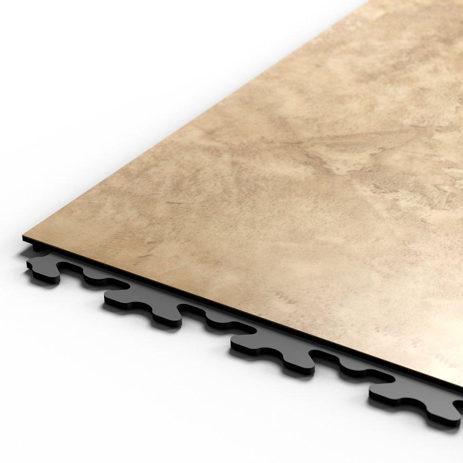 "Béžový vinylový plastový rohový nájezd ""typ D"" Business Decor 2129, Fortelock - délka 14,5 cm, šířka 14,5 cm a výška 0,65 cm"