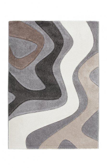 Šedý kusový moderní koberec Acapulco - délka 150 cm a šířka 80 cm