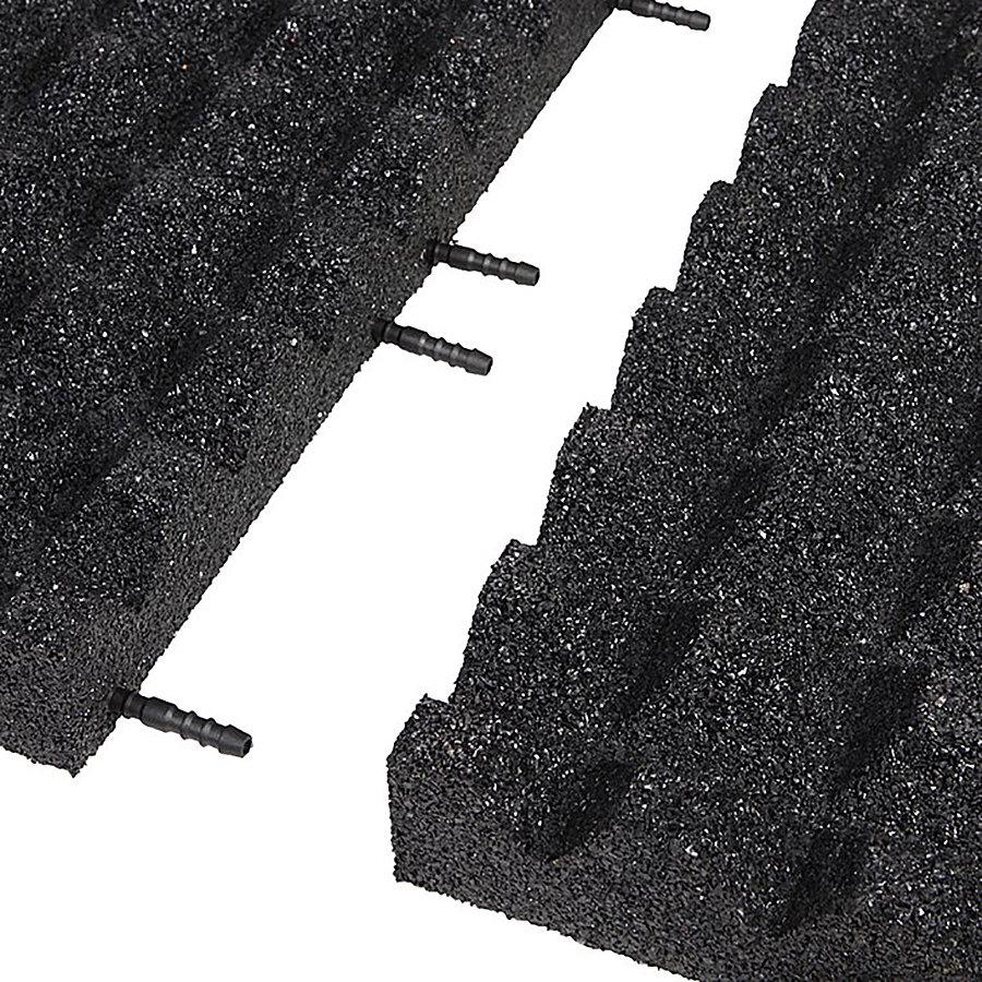 Černá gumová krajová deska (V65/R28) - délka 50 cm, šířka 25 cm a výška 6,5 cm