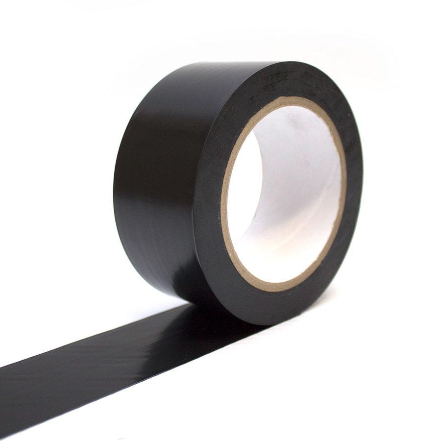 Černá podlahová vyznačovací páska - délka 33 m a šířka 5 cm