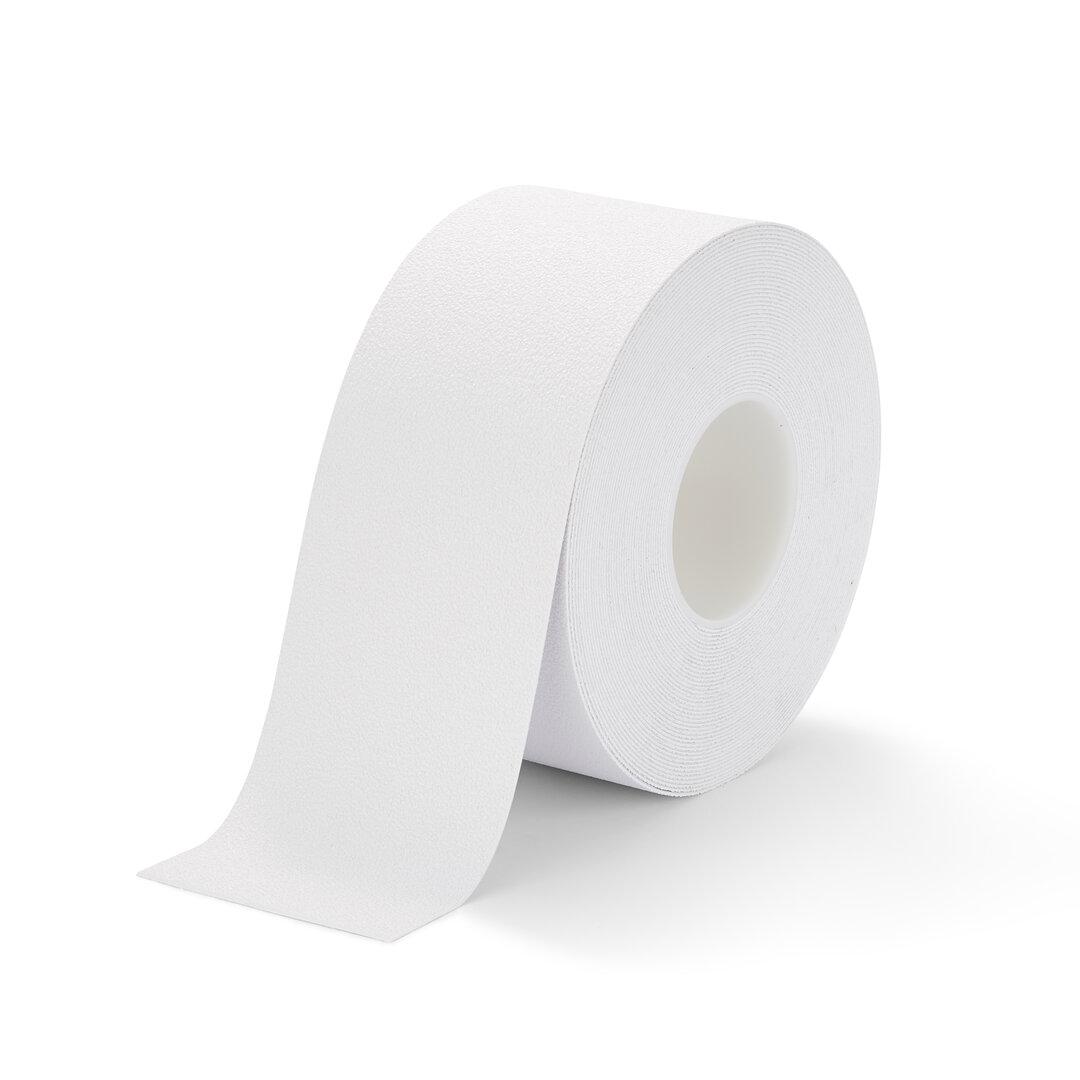 Bílá plastová protiskluzová voděodolná podlahová páska - 18,3 m x 10 cm x 1,3 mm