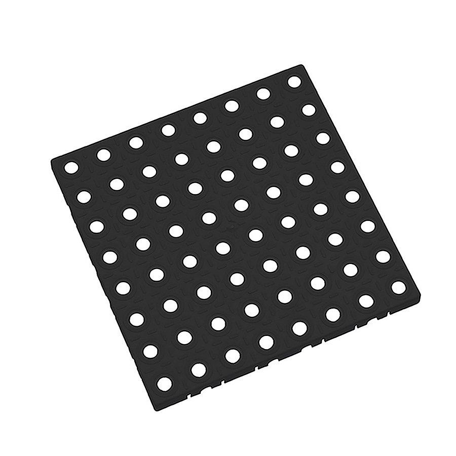 Černá plastová modulární dlaždice AT-STD, AvaTile - délka 25 cm, šířka 25 cm a výška 1,6 cm
