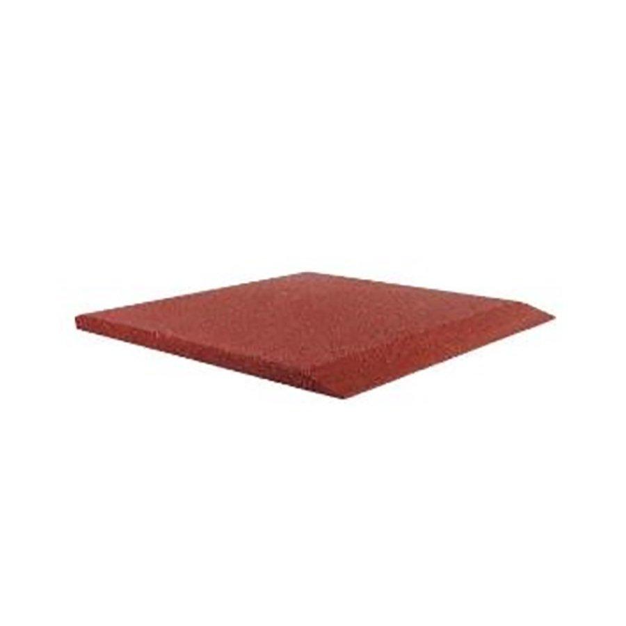 Červená gumová krajová deska (V45/R00) - délka 50 cm, šířka 50 cm a výška 4,5 cm