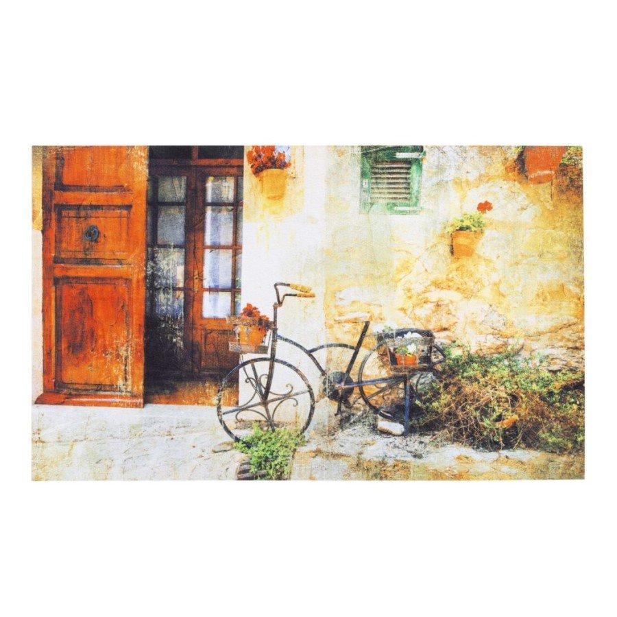 Vnitřní vstupní čistící rohož Gallery, Bicycle, FLOMA - délka 45 cm, šířka 75 cm a výška 0,6 cm