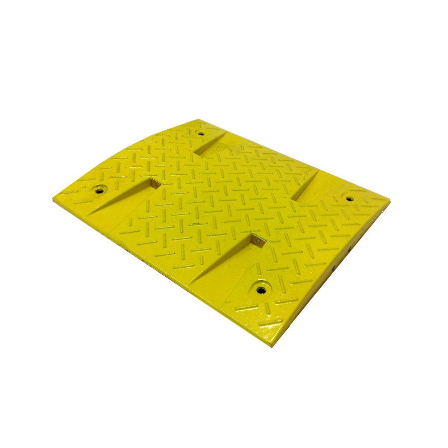 Žlutý plastový zpomalovací průběžný práh - 30 km / hod