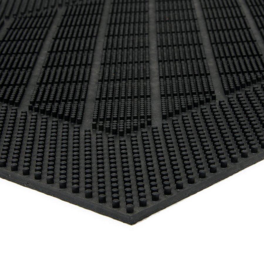Gumová čistící venkovní vstupní rohož Squares - Rectangle, FLOMA - délka 40 cm, šířka 60 cm a výška 0,7 cm