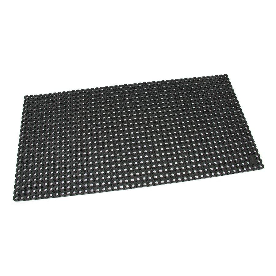 Černá gumová vstupní venkovní čistící rohož Octomat Mini - délka 50 cm, šířka 100 cm a výška 1,4 cm
