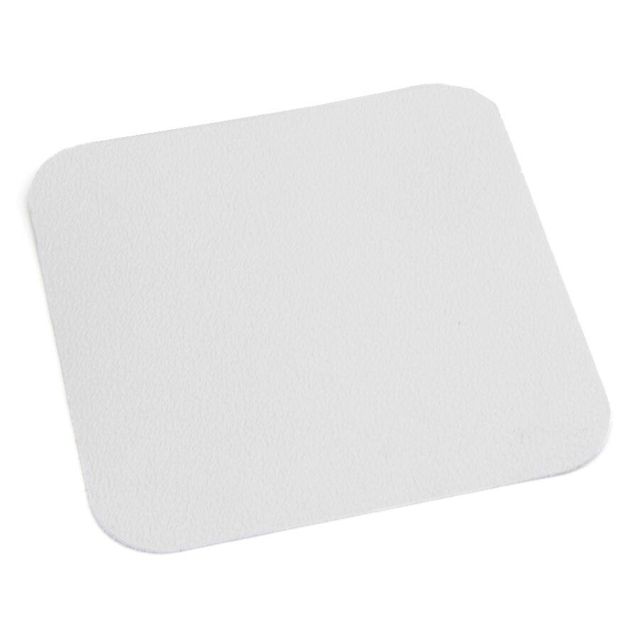 Bílá plastová voděodolná protiskluzová páska (dlaždice) FLOMA Aqua-Safe - 14 x 14 cm tloušťka 0,7 mm
