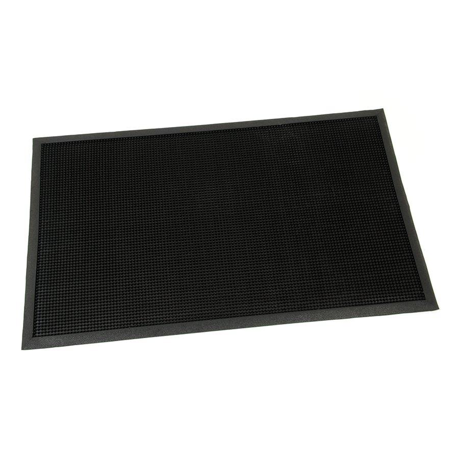 Gumová vstupní venkovní kartáčová čistící rohož Rubber Brush, FLOMAT - délka 100 cm, šířka 60 cm a výška 1,2 cm