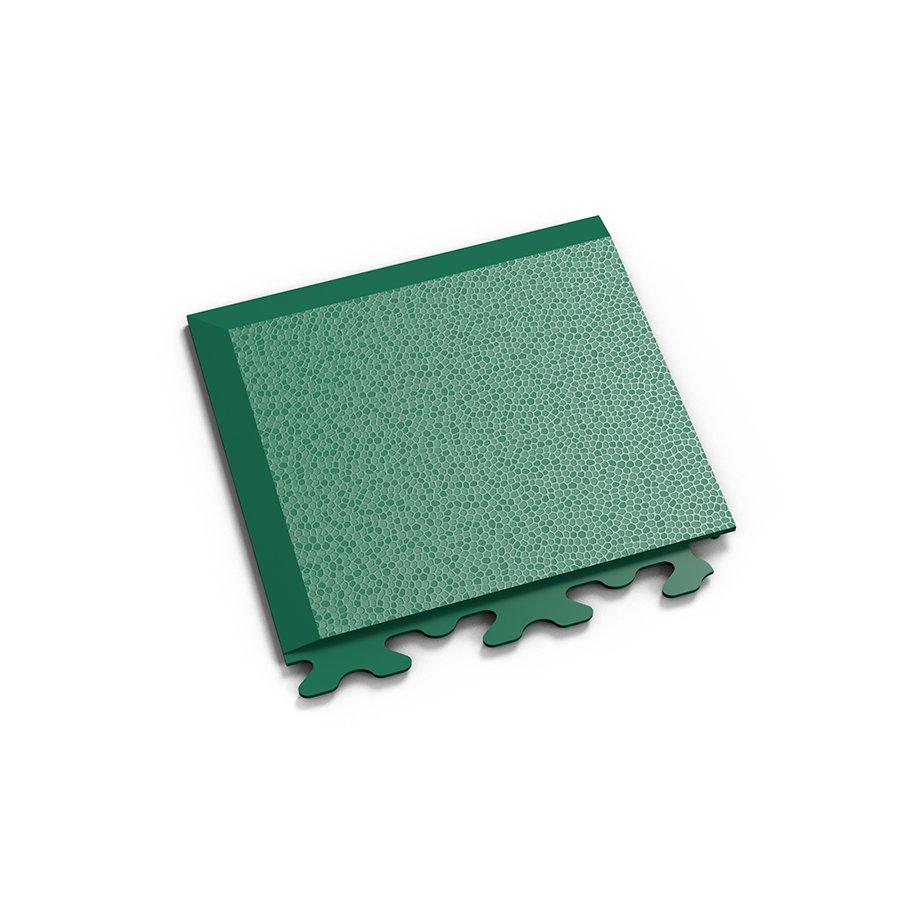 """Zelený plastový vinylový rohový nájezd """"typ A"""" Invisible 2036 (hadí kůže), Fortelock - délka 14,5 cm, šířka 14,5 cm a výška 0,67 cm"""