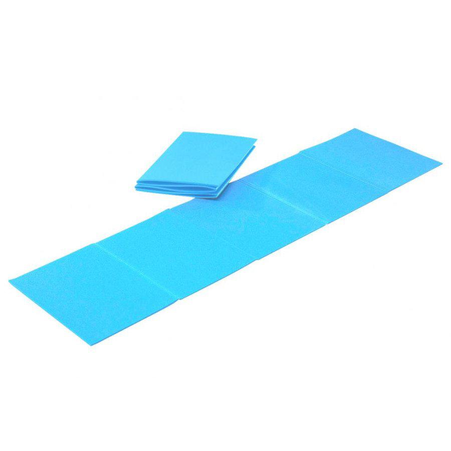 Modrá skládací pěnová karimatka na cvičení - délka 180 cm, šířka 50 cm a výška 0,8 cm