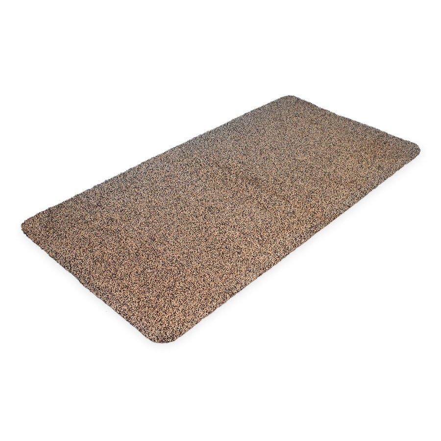 Hnědá bavlněná čistící vnitřní vstupní rohož - délka 100 cm, šířka 75 cm a výška 0,4 cm