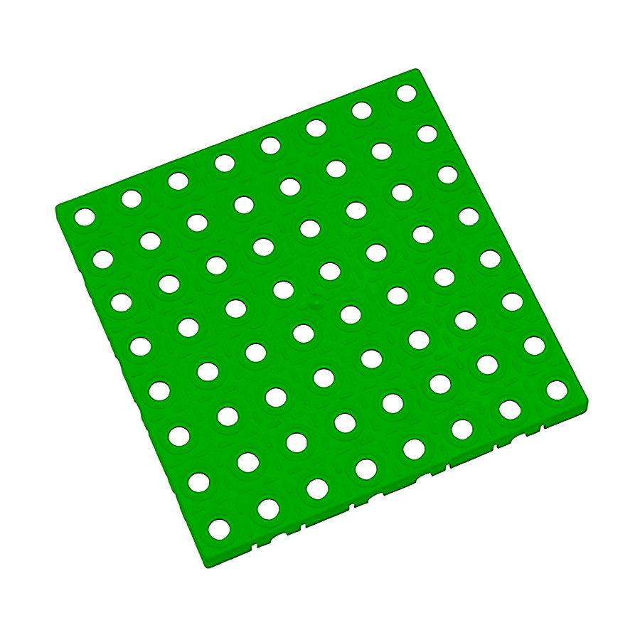 Zelená plastová modulární dlaždice AT-STD, AvaTile - délka 25 cm, šířka 25 cm a výška 1,6 cm