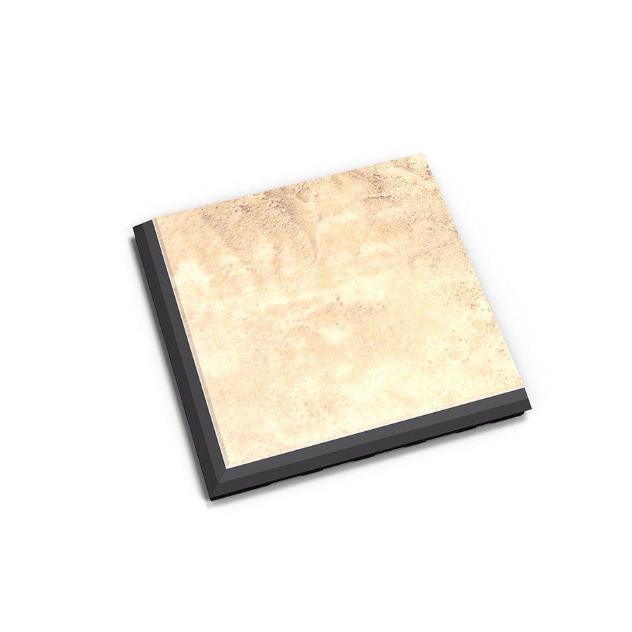 "Béžový plastový vinylový rohový nájezd ""typ C"" Business Decor 2128, Fortelock - délka 14,5 cm, šířka 14,5 cm a výška 0,65 cm"