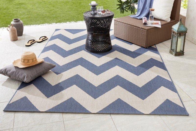 Modrý kusový koberec Meadow - délka 170 cm a šířka 120 cm