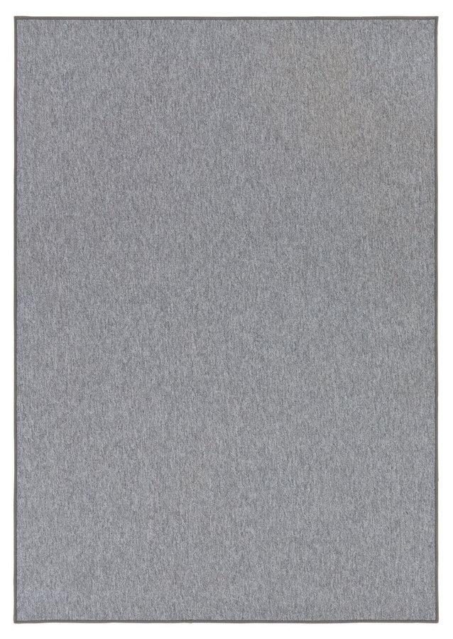 Šedý kusový koberec
