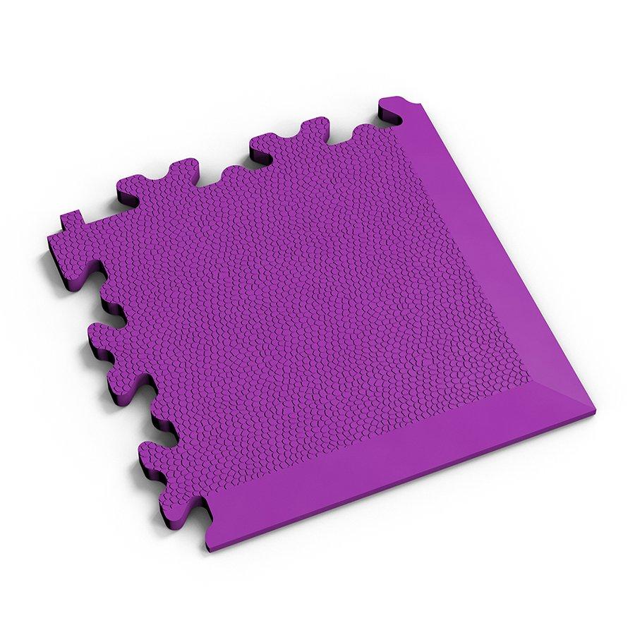 Fialový plastový vinylový rohový nájezd 2026 (kůže), Fortelock - délka 14 cm, šířka 14 cm a výška 0,7 cm