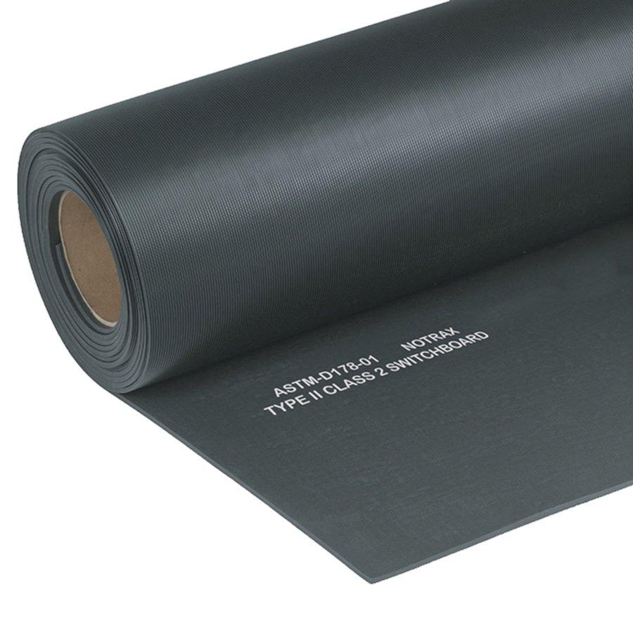 Černá elektroizolační průmyslová rohož Switchboard, Class 2 - 150 x 91 x 0,64 cm