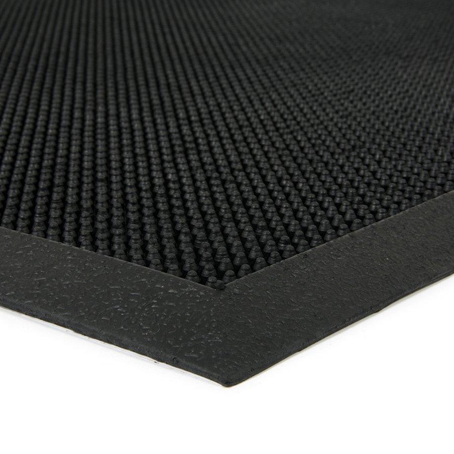 Gumová čistící kartáčová venkovní vstupní rohož Rubber Brush, FLOMAT - délka 80 cm, šířka 60 cm a výška 1,2 cm