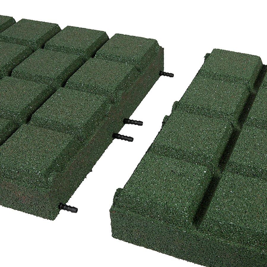 Zelená gumová dlaždice (V90/R25BIG) - délka 50 cm, šířka 50 cm a výška 9 cm