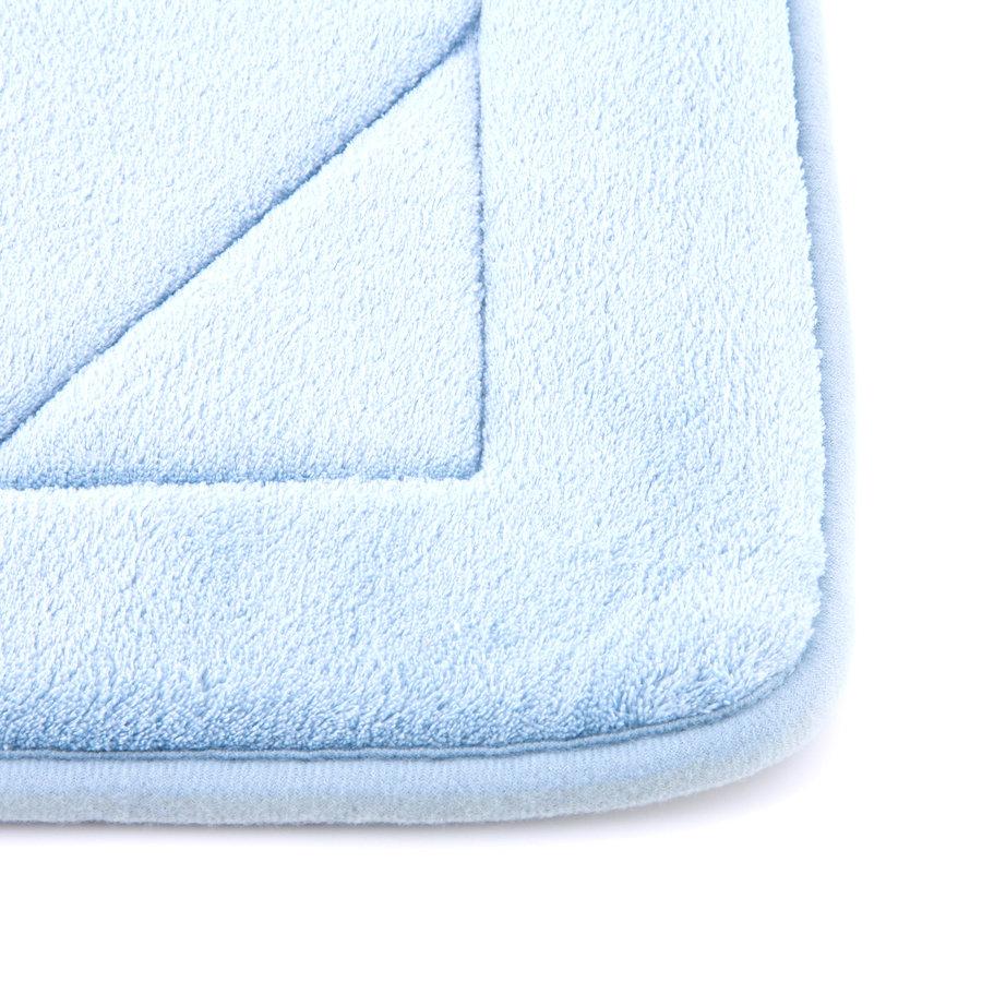 Modrá pěnová koupelnová předložka - délka 87 cm a šířka 53 cm